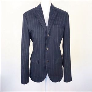 Polo Rugby Blue Pinstripe Suit Blazer